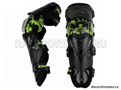 Scoyco K12 мото наколенники (черно-зеленые)