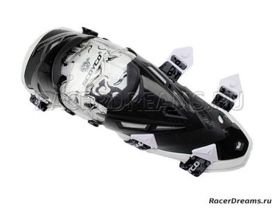 Scoyco K12 мото наколенники (черно-белые)