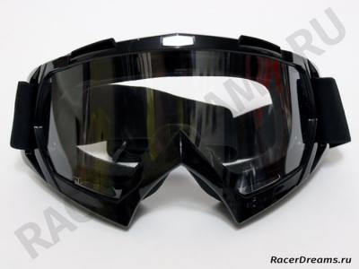 Мотоочки GXT черные с прозрачной линзой