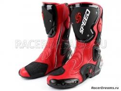 Мотоботы Pro Biker Speed B1001 (красные)