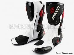 Мотоботы Pro Biker Speed B1001 (белые)
