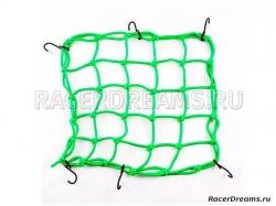 Багажная сетка-паук BS05 (зеленая, 40 х 40 см)