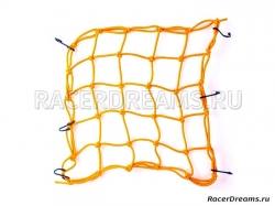 Багажная сетка-паук BS02 (желтая, 40 х 40 см)